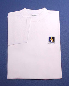 WHITE T-SHIRT - logo front only
