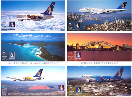 SYDNEY 2000 OLYMPIC GAMES POSTCARDS (Set of 6)