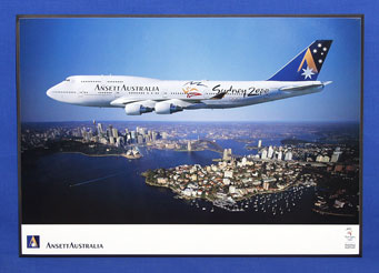 OLYMPIC AIRCRAFT POSTER (B747-400 VH-ANA)