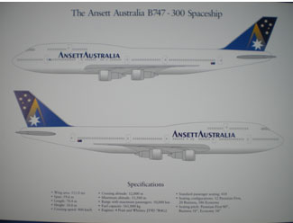 BOEING 747-300 SPECIFICATION SHEET