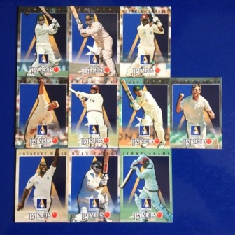 TEST CRICKET SERIES 1996-1997 CARDS (Set of 10)