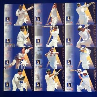TEST CRICKET SERIES 1997-1998 CARDS (Set of 12)