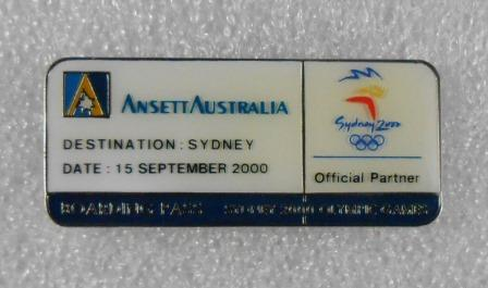 SYDNEY 2000 OLYMPIC BOARDING PASS PIN