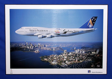 OLYMPIC POSTER (B747-400, VH-ANA)