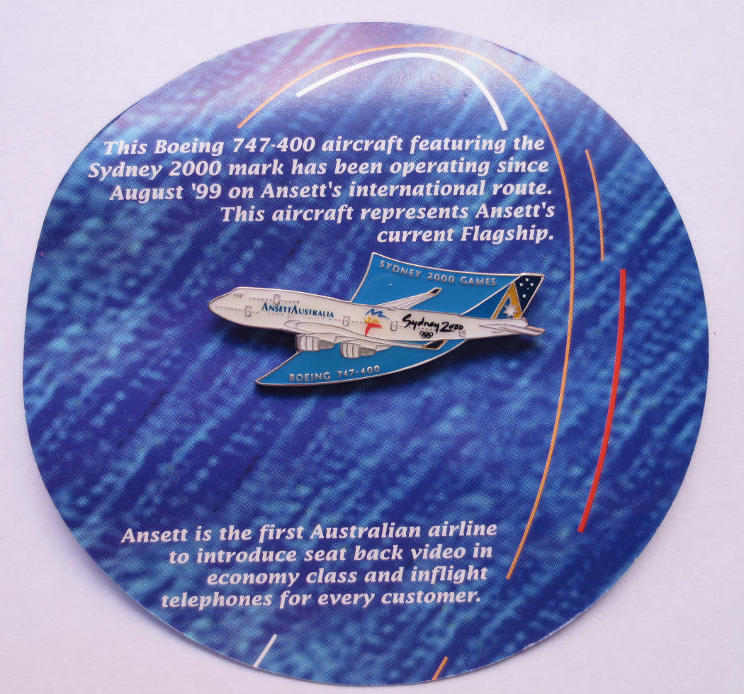 OLYMPIC HISTORICAL AIRCRAFT PIN - BOEING 747-400 OLYMPIC