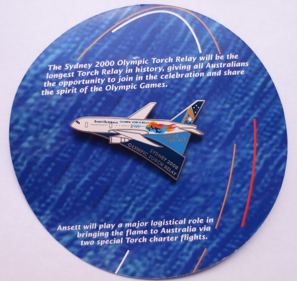 OLYMPIC HISTORICAL AIRCRAFT PIN - BOEING 767-300 OLYMPIC