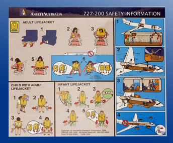 SAFETY CARD - B727-200