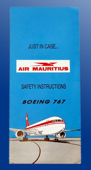 SAFETY CARD - BOEING 767