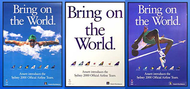 "OLYMPIC POSTERS - ""Bring on the World"" (Set of 3)"