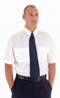 White Short Sleeve Epaulette Shirt