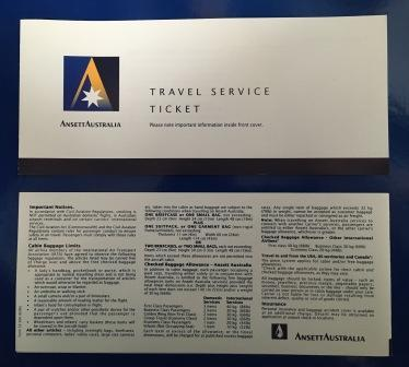 TRAVEL SERVICE TICKET COVER