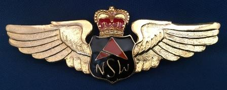 PILOT WINGS: Airlines Of New South Wales