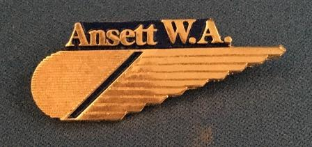CABIN CREW WINGS: Ansett W.A. (Gold 1 Stripe)