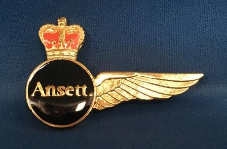 FLIGHT ENGINEER WINGS: Ansett.