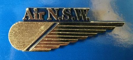 CABIN CREW WINGS: Air NSW (Silver 1 Stripe)
