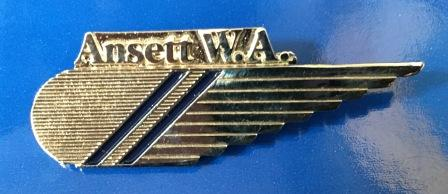 CABIN CREW WINGS: Ansett W.A. (Silver 2 Stripes)
