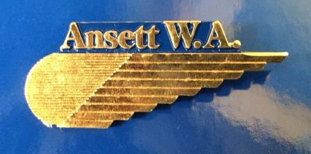 CABIN CREW WINGS: Ansett W.A. (Gold )