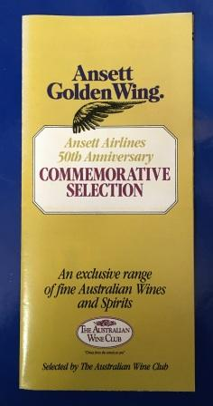 Ansett Golden Wing Brochure - 50th Anniversary