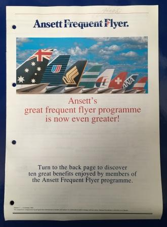 Ansett Frequent Flyer Booklet