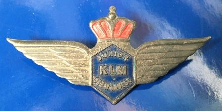 "JUNIOR STEWARDESS WINGS: ""KLM"""