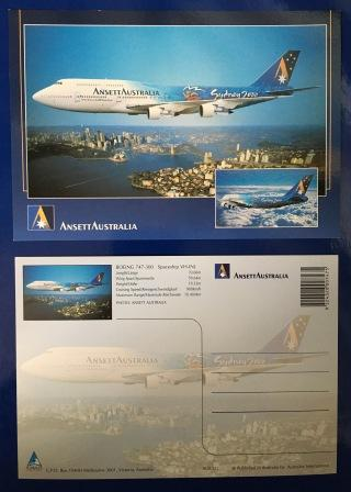 SYDNEY 2000 OLYMPIC GAMES B747-300 POSTCARD (View 2)