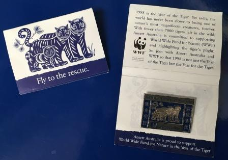 "LAPEL BADGE: ""YEAR OF THE TIGER"""
