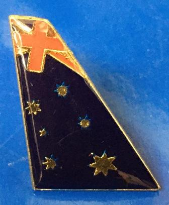 "LAPEL BADGE: ""Tail - Australian Flag Livery"""
