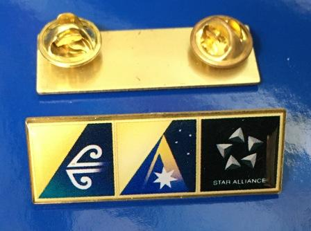 "LAPEL BADGE: ""Air NZ / Ansett Australia / Star Alliance"