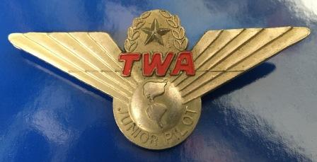 "JUNIOR PILOT WINGS: ""TWA"""
