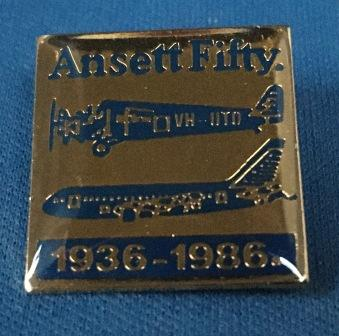 "LAPEL BADGE: ""Ansett Fifty"""