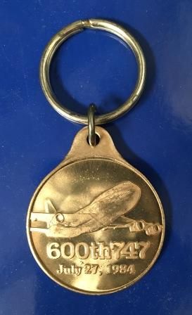 Ansett. BOEING KEY RING / MEDALLION