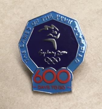 "SOCOG COUNTDOWN PIN: ""600 Days To Go"""