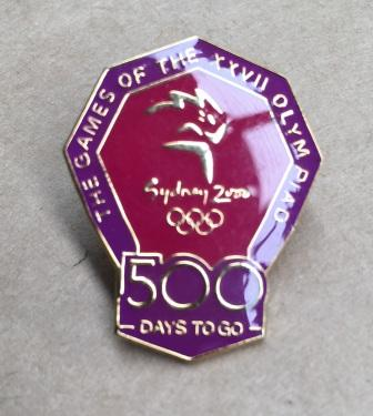 "SOCOG COUNTDOWN PIN: ""500 Days To Go"""