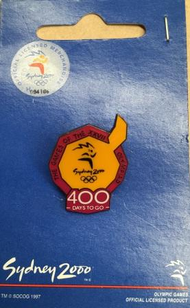 "SOCOG COUNTDOWN PIN: ""400 Days To Go"""