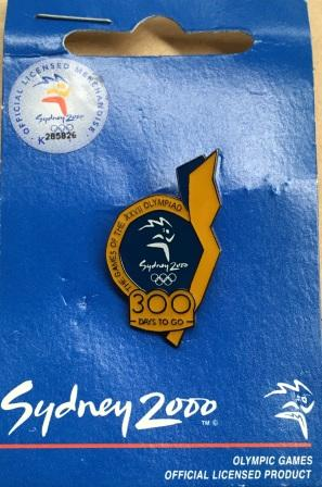 "SOCOG COUNTDOWN PIN: ""300 Days To Go"""
