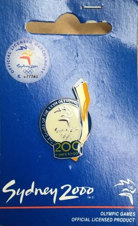 "SOCOG COUNTDOWN PIN: ""200 Days To Go"""