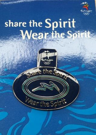 "SOCOG PIN: ""Share the Spirit Wear the Spirit"""