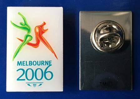 "LAPEL BADGE: ""MELBOURNE 2006 XVIII COMMONWEALTH GAMES"""