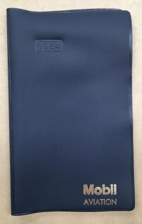 "MOBIL AVIATION: ""Plastic Notebook Cover"""