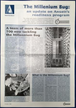 "ANSETT NEWS FEATURE: ""The Milleniumm Bug"""