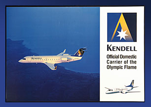 OLYMPIC AIRCRAFT POSTER (Kendell CRJ 200, VH-KJF)