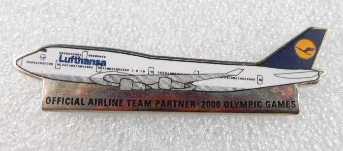 SYDNEY 2000 OFFICAL AIRLINE TEAM PIN - LUFTHANSA