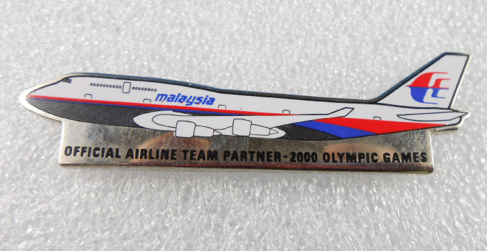 SYDNEY 2000 OFFICAL AIRLINE TEAM PIN - MALAYSIA