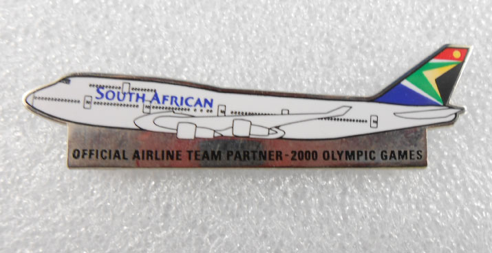 SYDNEY 2000 OFFICAL AIRLINE TEAM PIN - SOUTH AFRICAN