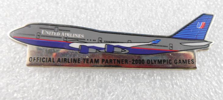 SYDNEY 2000 OFFICAL AIRLINE TEAM PIN - UNITED AIRLINES