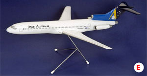 "BOEING B727-200 (""GOLD A "" LIVERY) SCALE 1:100"