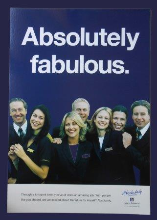 "ANSETT AUSTRALIA ""Absolutely"" PROMOTION CARD"