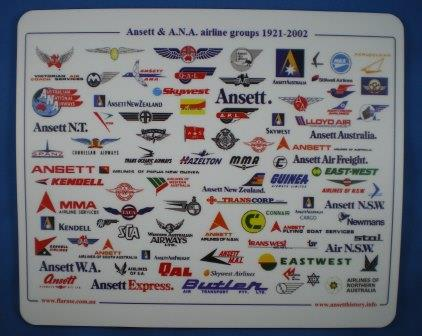 ANSETT & A.N.A AIRLINE GROUPS MOUSE MAT