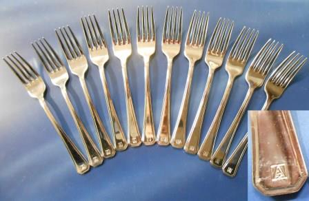 ANSETT AUSTRALIA FIRST CLASS DESSERT FORKS (Set of 12)