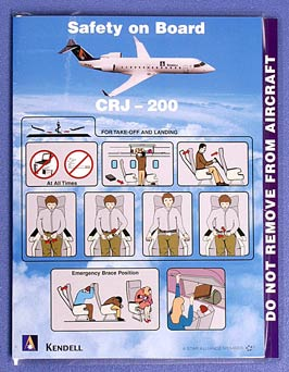 KENDELL AIRLINES - SAFETY CARD CRJ-200